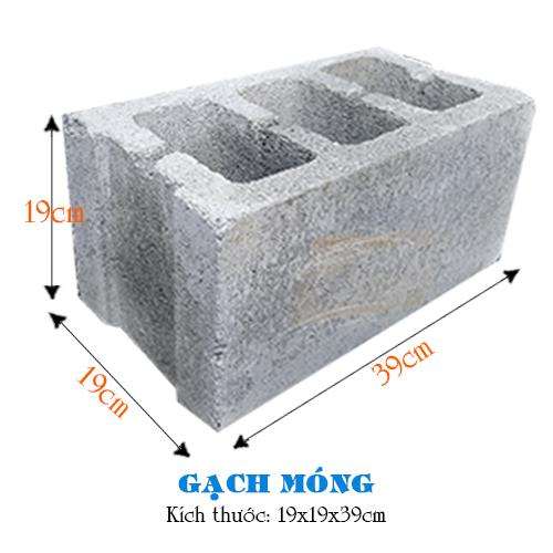 Gạch Móng 19x19x39